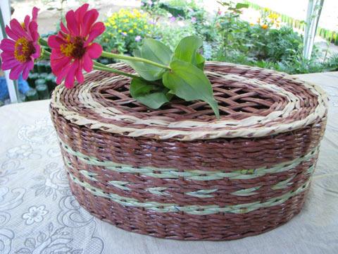 плетение из газет крышки