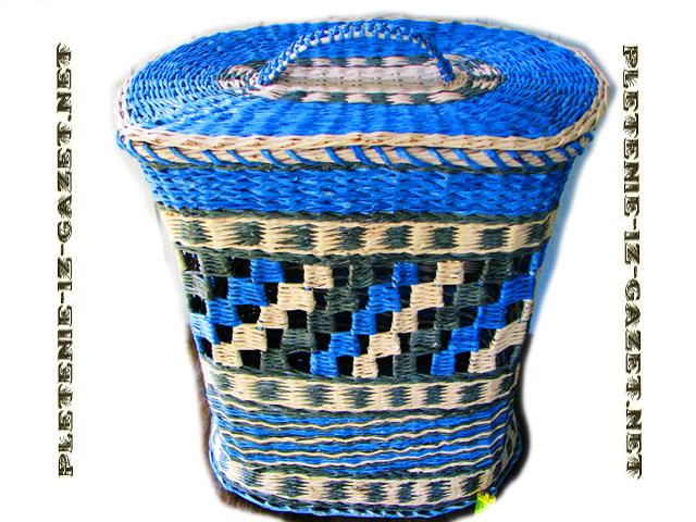 Шахматка при плетении из газетных трубочек