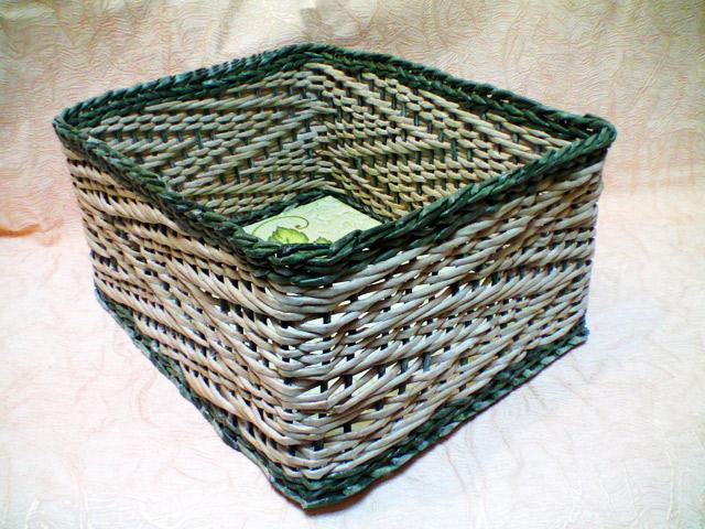 коробка из бумажных трубочек