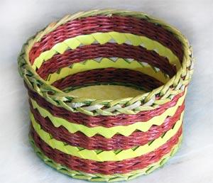 Плетение с узорами - Плетение из газет