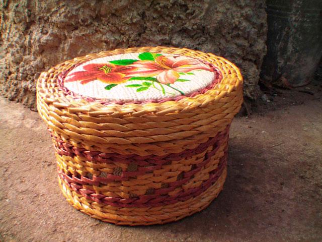 Плетение из газетных трубочек крышка для шкатулки