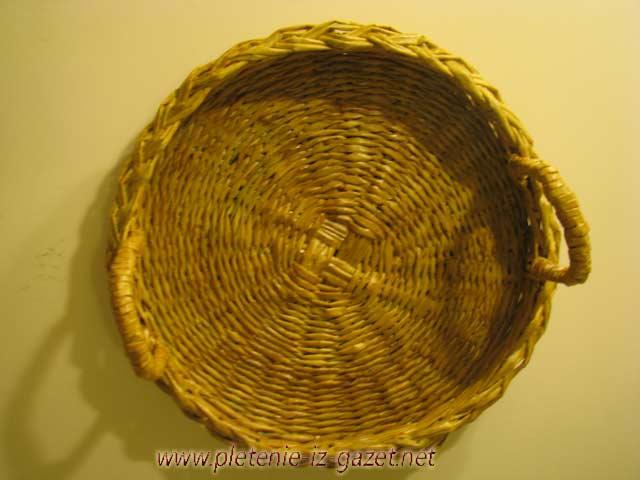 Плетение круглого дно корзины