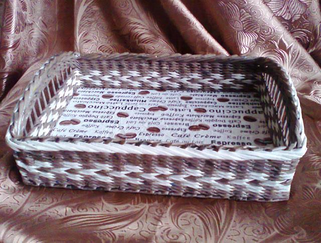 плетение косички из газетных трубочек масстер класс видео