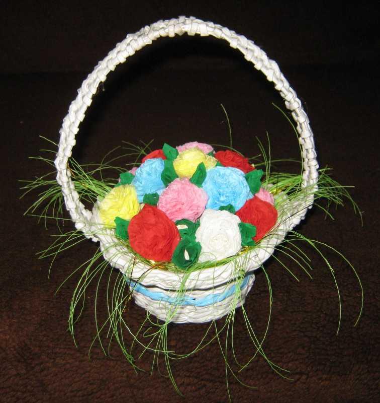 Плетение ленточками цветы заколки схема
