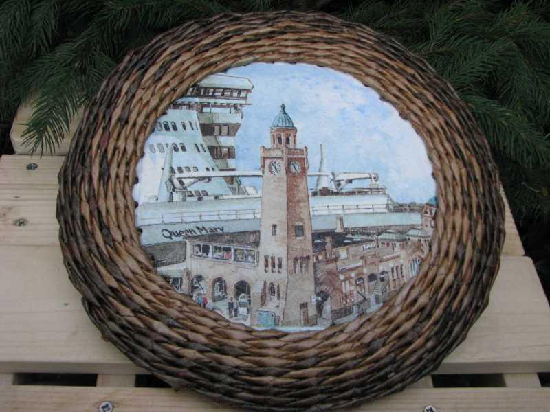 Плетение из газетных трубочек рамок для фотографий мастер класс